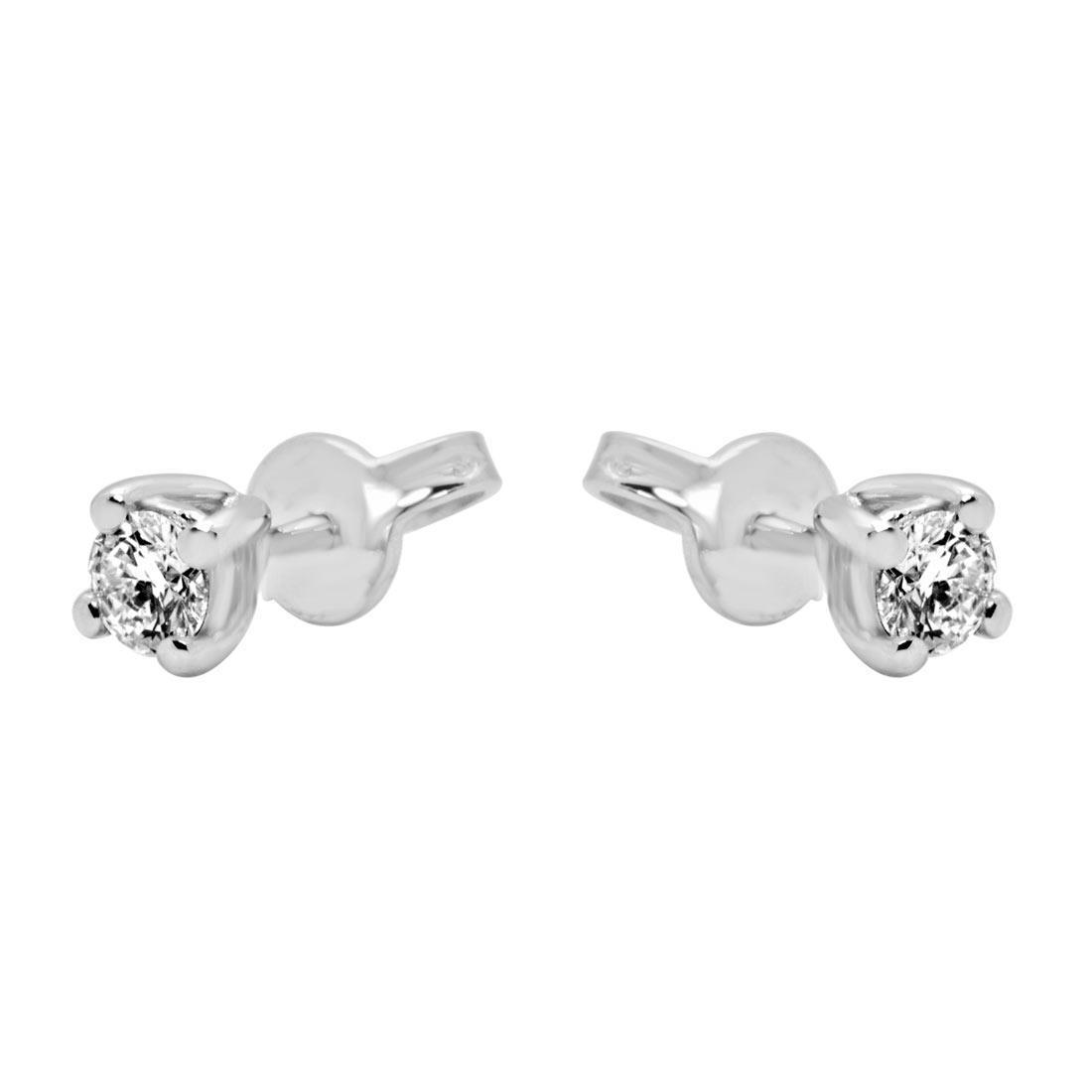Orecchini punto luce Oro & Co in oro bianco e diamanti ct. 0.60 - ORO&CO