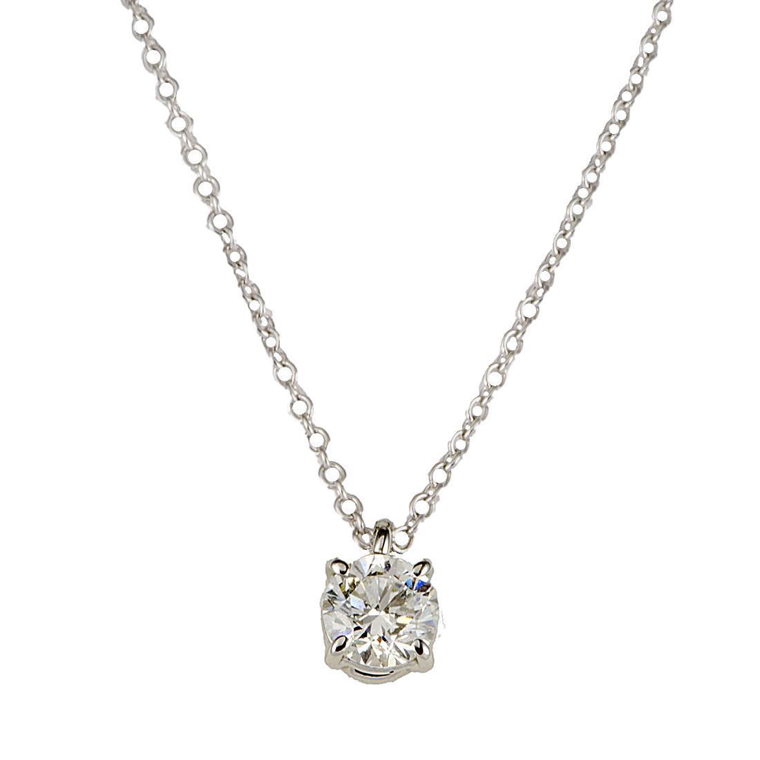 Collana punto luce Oro & Co in oro bianco e diamante ct 0.40, lunghezza cm 42 - ORO&CO