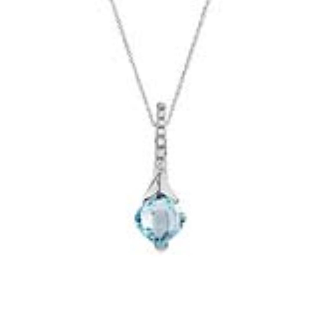 Collana con pendente con topazio e diamanti  - ALFIERI & ST. JOHN