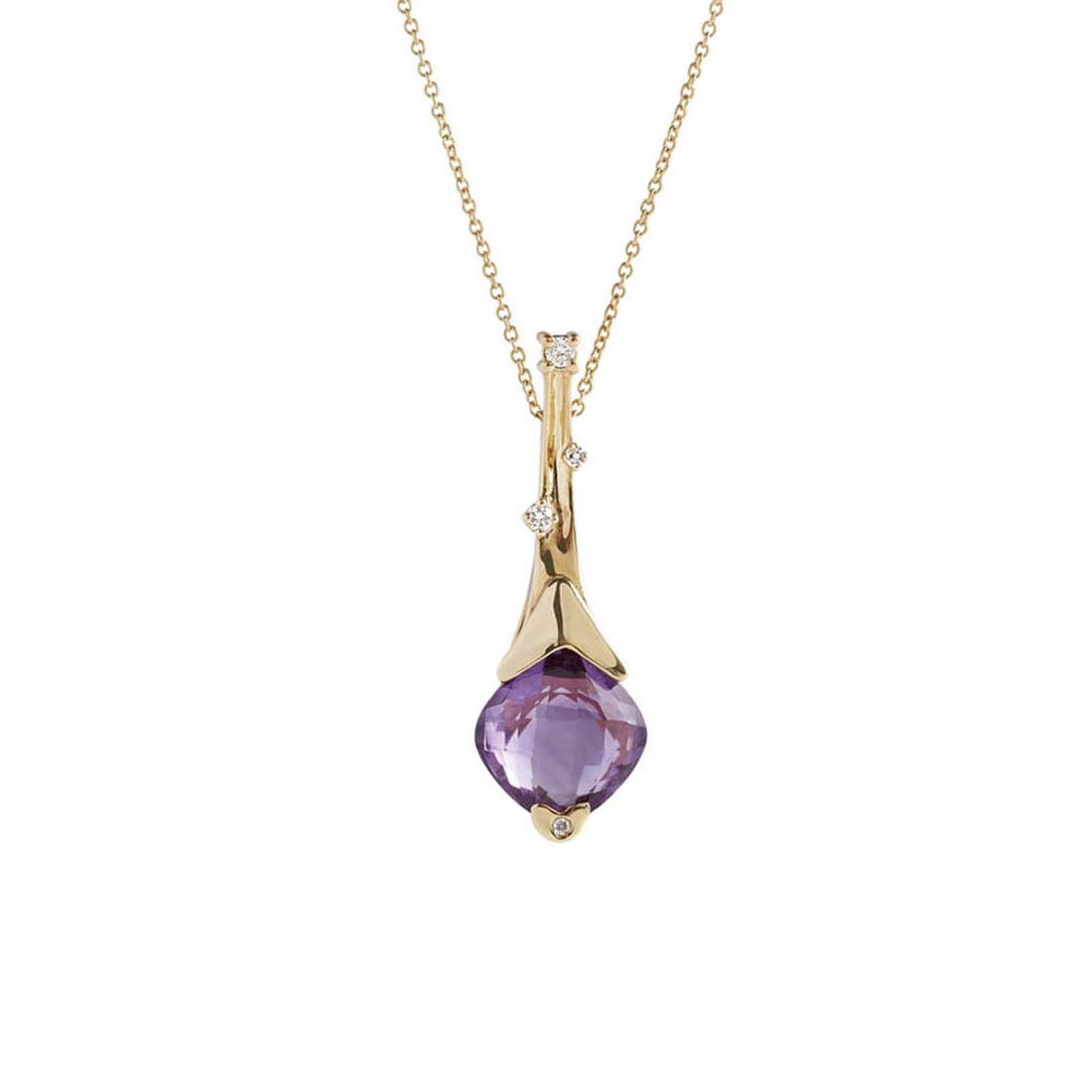 Necklace with amethyst and diamonds - ALFIERI & ST. JOHN