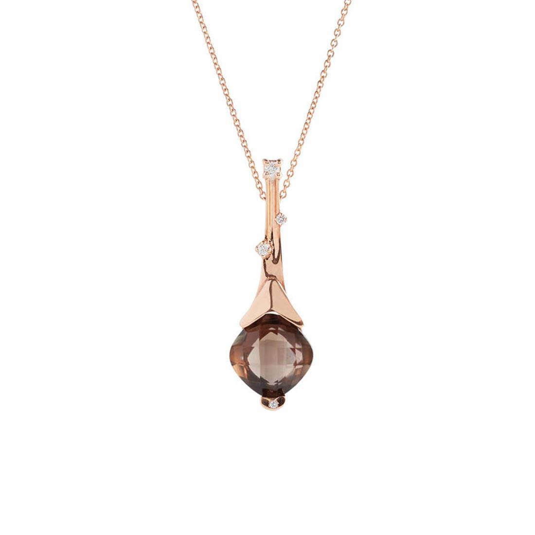 Necklace with smoky quartz and diamonds - ALFIERI & ST. JOHN