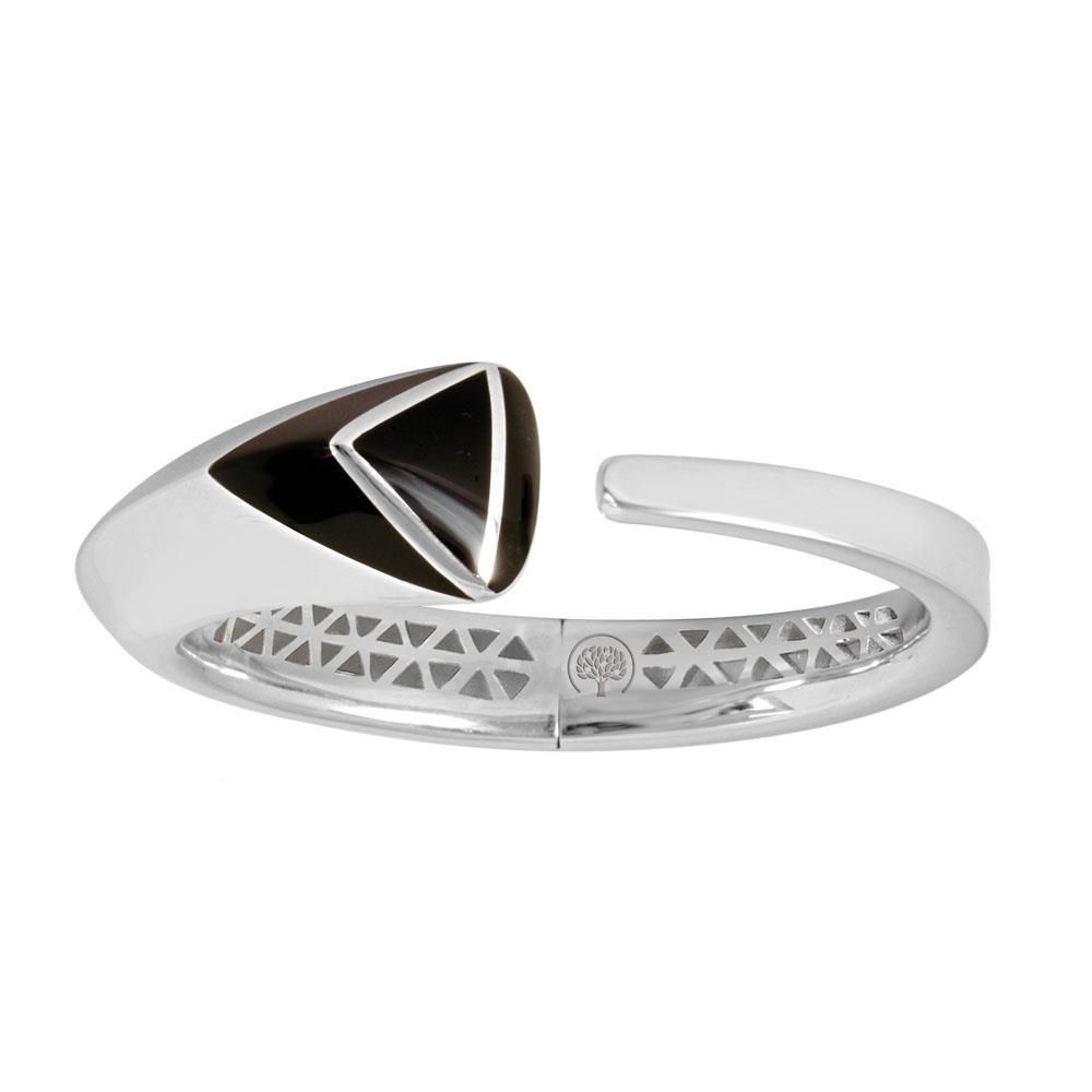 Bracciale rigido in argento rodiato e smalto nero - ALFIERI & ST. JOHN 925