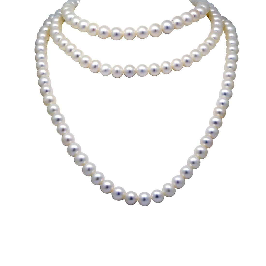 Collana di perle freshwater in oro 18carati - ORO&CO