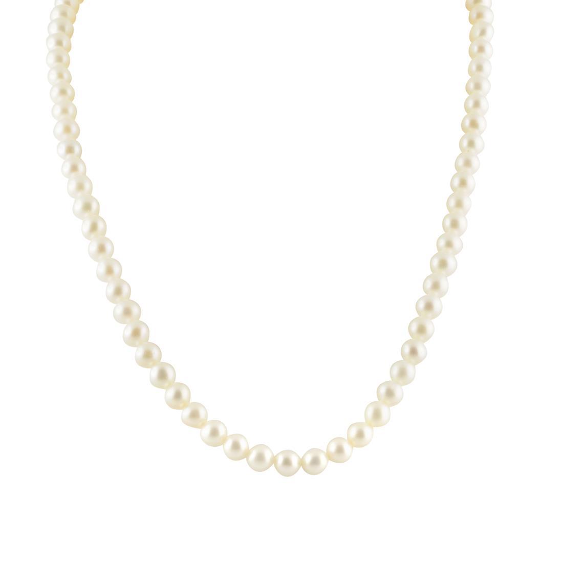 Collana di perle Freshwater in oro, lunghezza 42 cm - ORO&CO