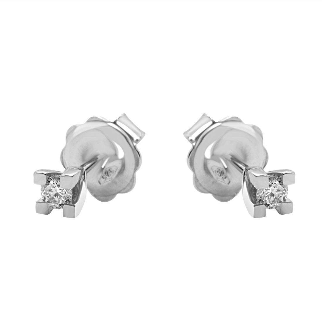 Orecchini Oro&Co in oro bianco 9 kt con diamanti ct 0,16  - ORO&CO