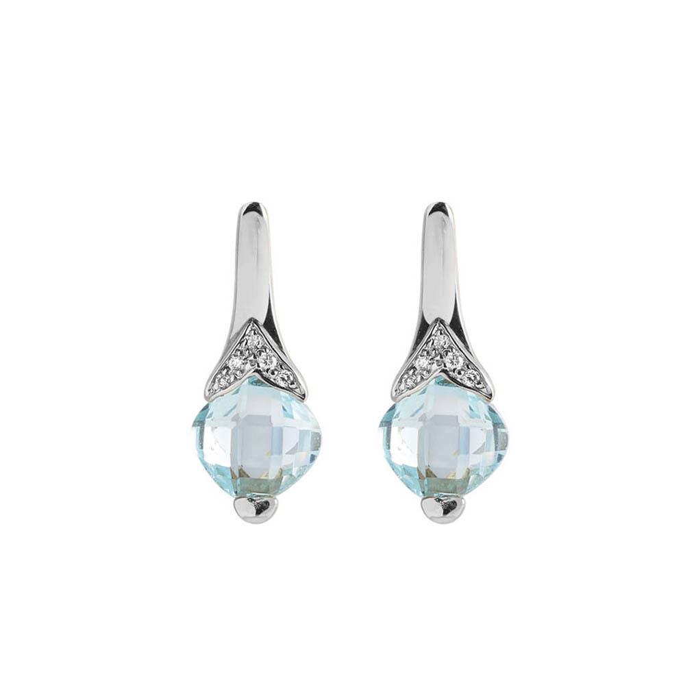 Orecchini con topazio e diamanti - ALFIERI & ST. JOHN