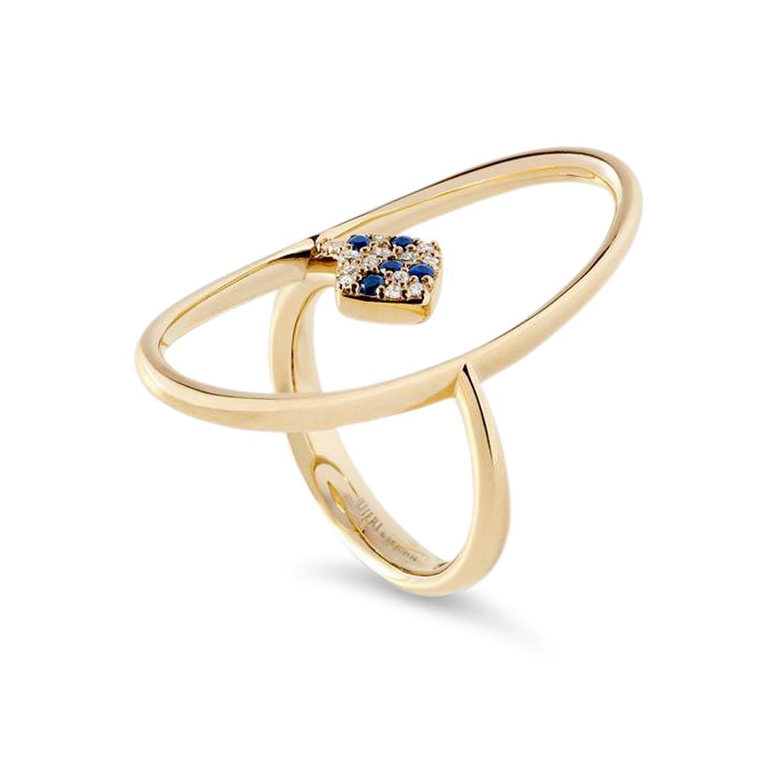 Anello con diamanti e zaffiri - ALFIERI & ST. JOHN