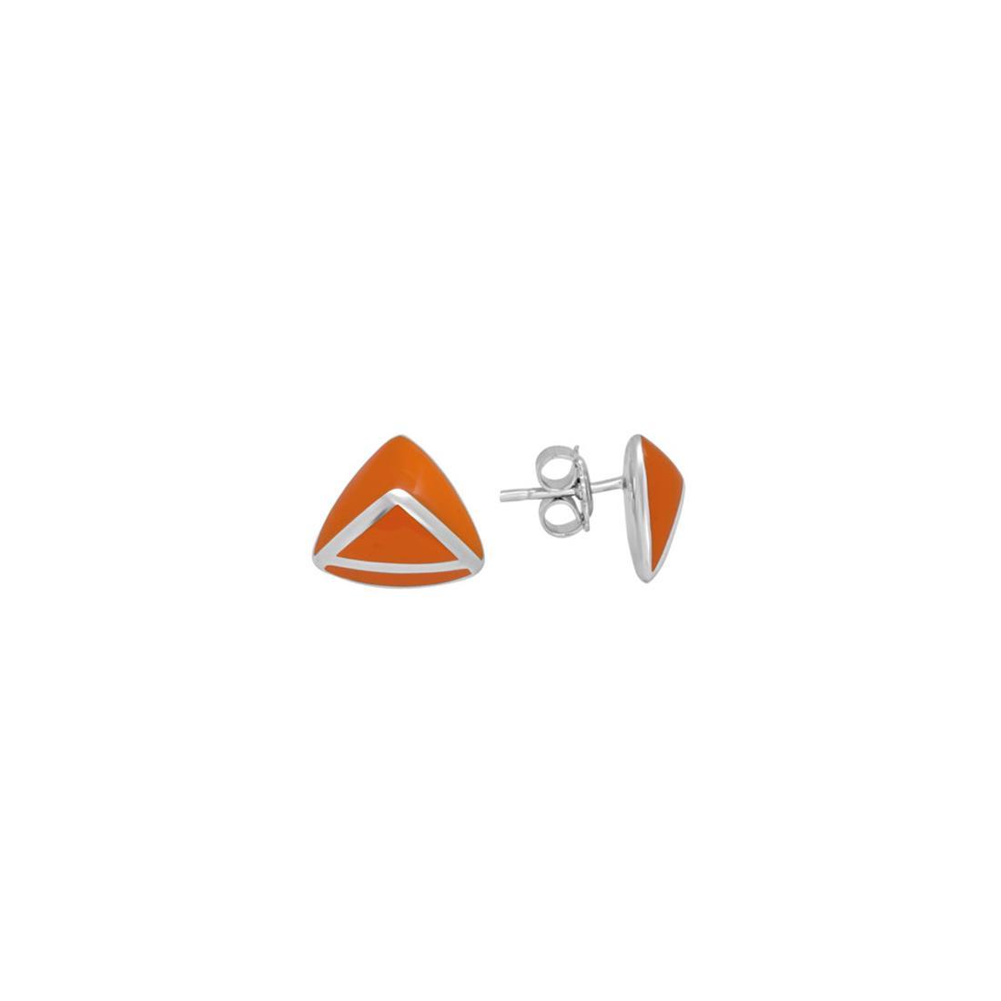 Orecchini in argento con smalto arancione - ALFIERI & ST. JOHN 925