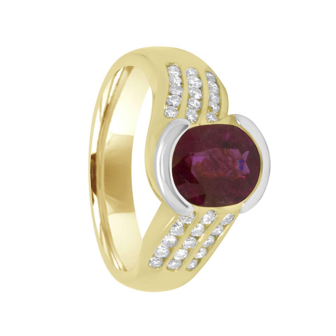 Anello Oro& Co in oro giallo con rubino ct 1,91 - ALFIERI ST JOHN