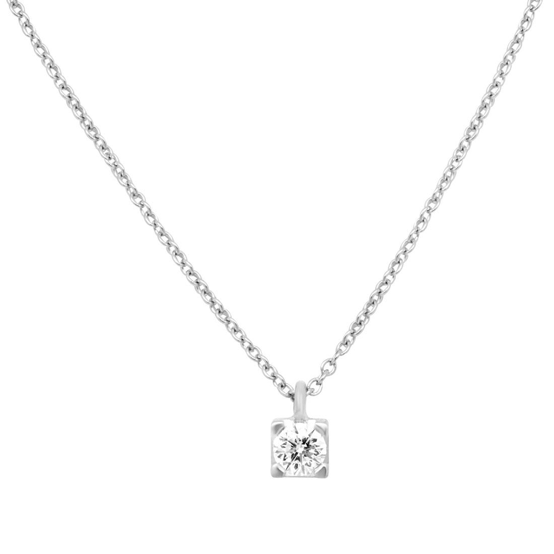Collier Alfieri & St john in oro bianco con diamanti ct 0,25 - ALFIERI ST JOHN