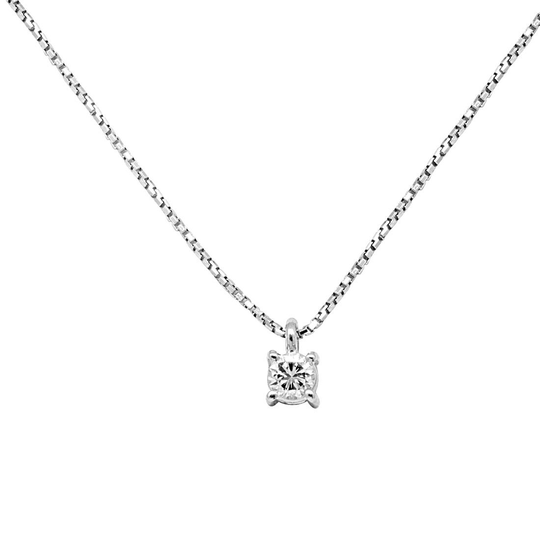 Collier Oro&Co in oro bianco con diamanti ct 0,20 - ORO&CO