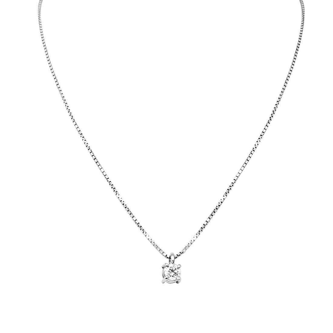 Collier Oro&Co in oro bianco con diamanti ct 0,19 - ORO&CO