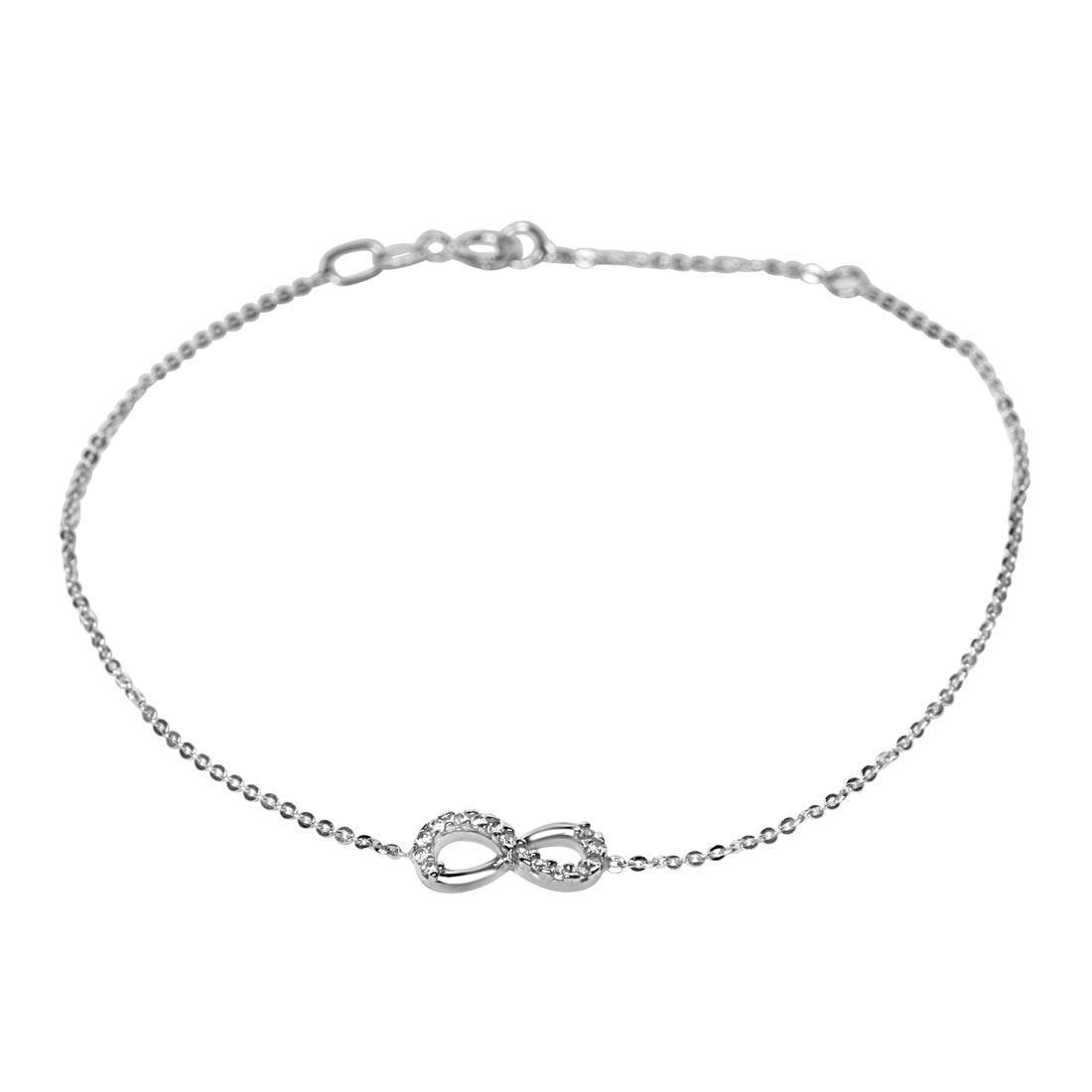 Bracciale in oro bianco con zirconi - ORO&CO