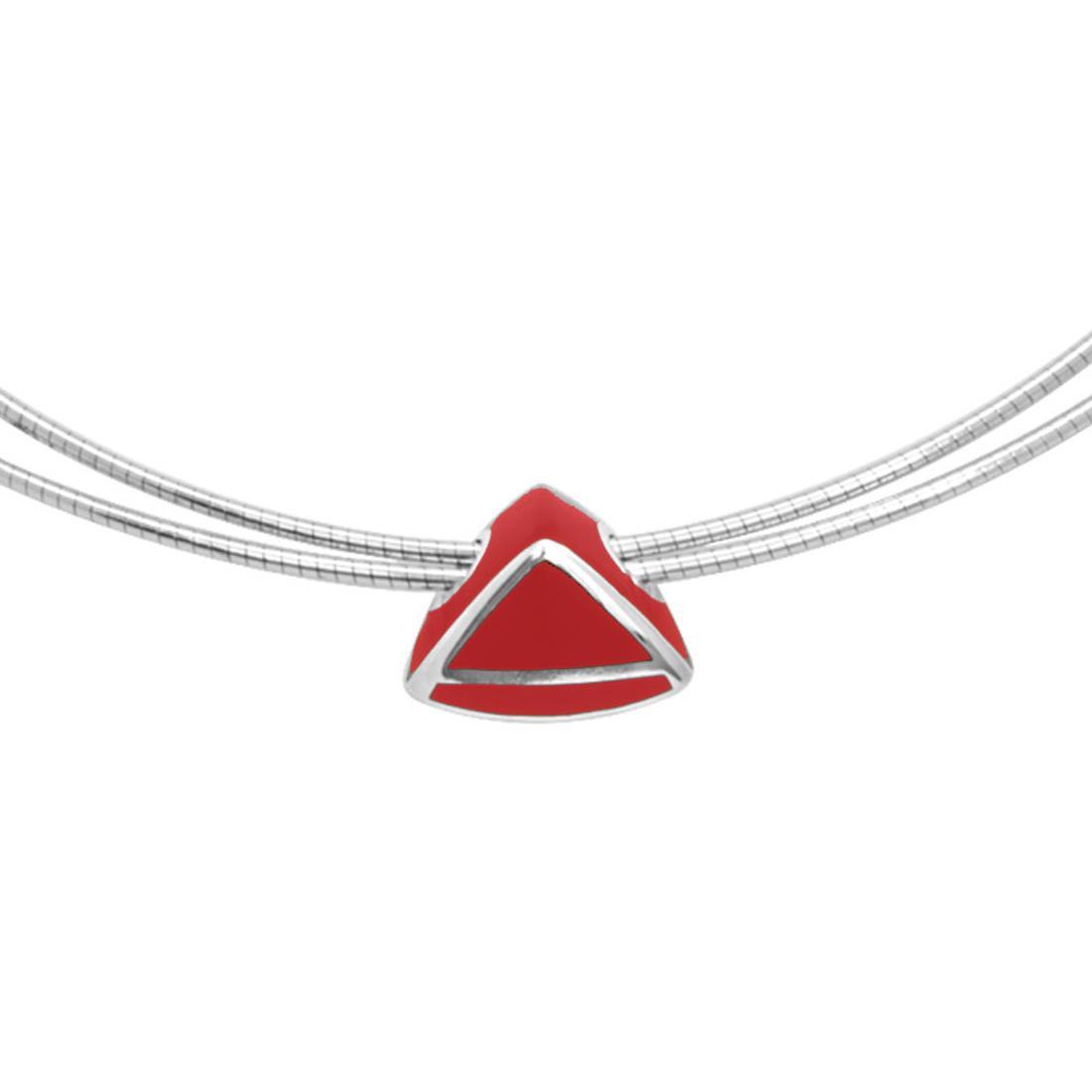 Collana in argento e smalto rosso - ALFIERI & ST. JOHN 925