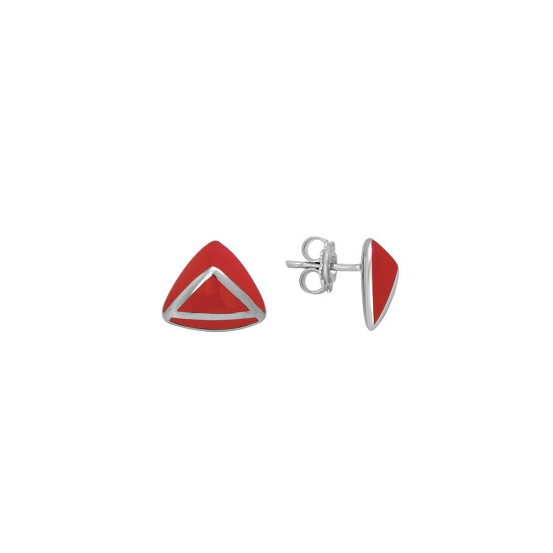 Orecchini in argento e smalto rosso - ALFIERI & ST. JOHN 925