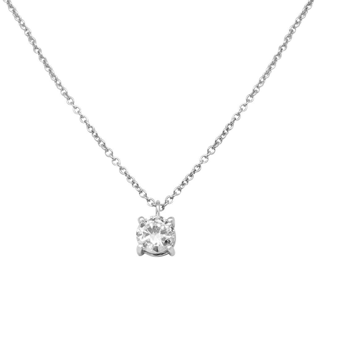 Collier Alfieri & St john in oro bianco con diamanti ct 0,61 - ALFIERI ST JOHN