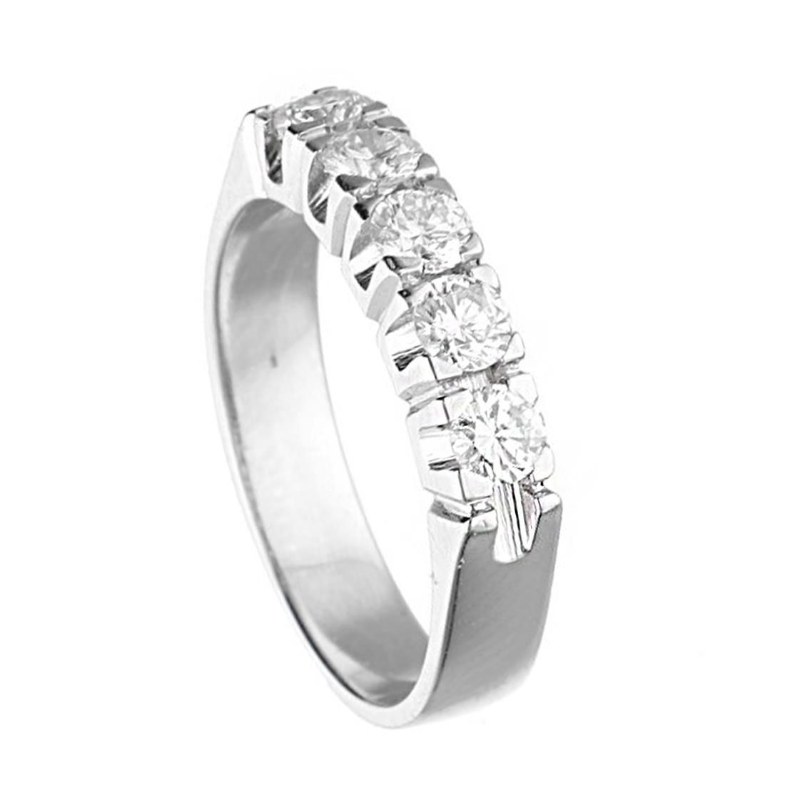 Oro & Co riviére White gold diamond ring size 54 - ORO&CO