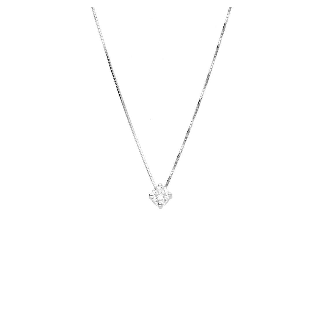 Collier Oro & Co in oro bianco con diamanti ct 0,14  - ORO&CO