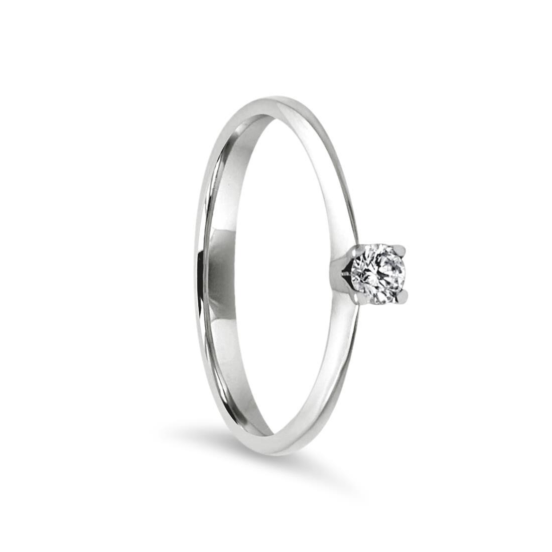 Ring with diamond - ALFIERI & ST. JOHN