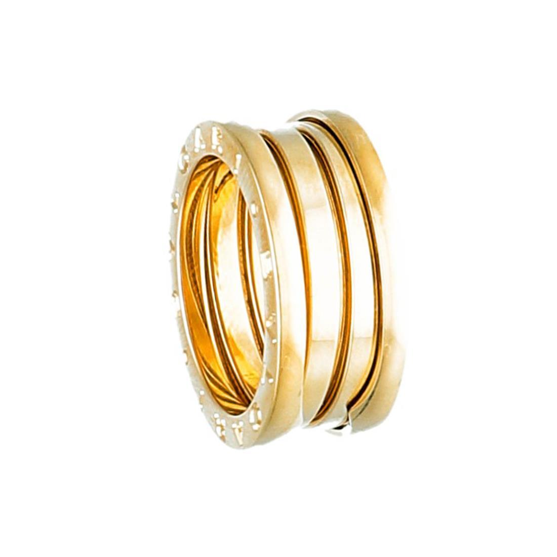 Anello Bulgari Modello B.Zero1, anello a tre fasce in oro giallo 18 kt, misura 13 - BULGARI