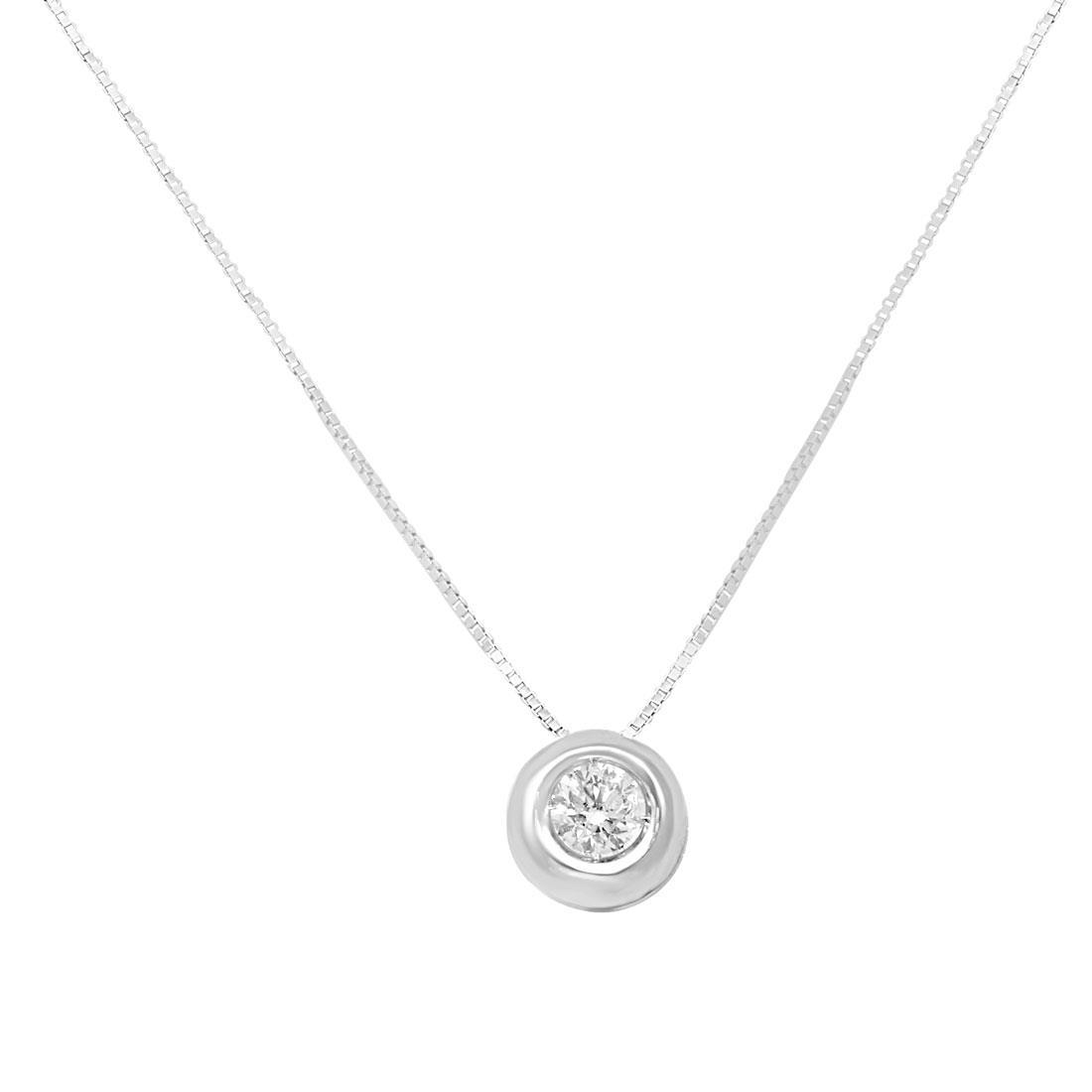 Collier Oro & Co in oro bianco con DIAMANTE CT 0,15 - ORO&CO