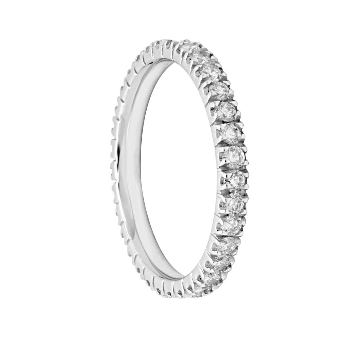 Anello in oro bianco con diamanti mis 14 - ORO&CO