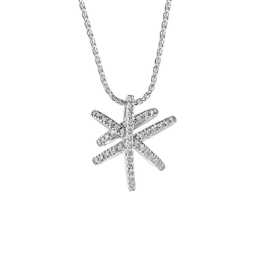 Pendente in oro bianco con diamanti - ALFIERI & ST. JOHN