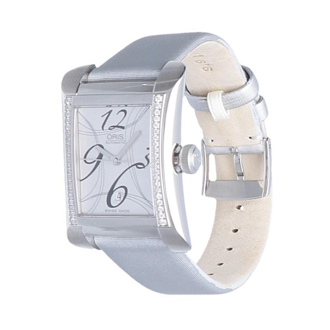 Orologio cassa  25,90 x 37,00 mm in acciaio inossidabile e diamanti - ORIS