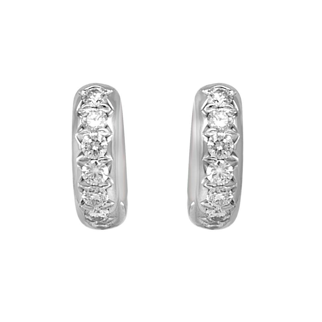 Orecchini Alfieri & St John in oro bianco con diamanti ct 1,12  - ALFIERI ST JOHN