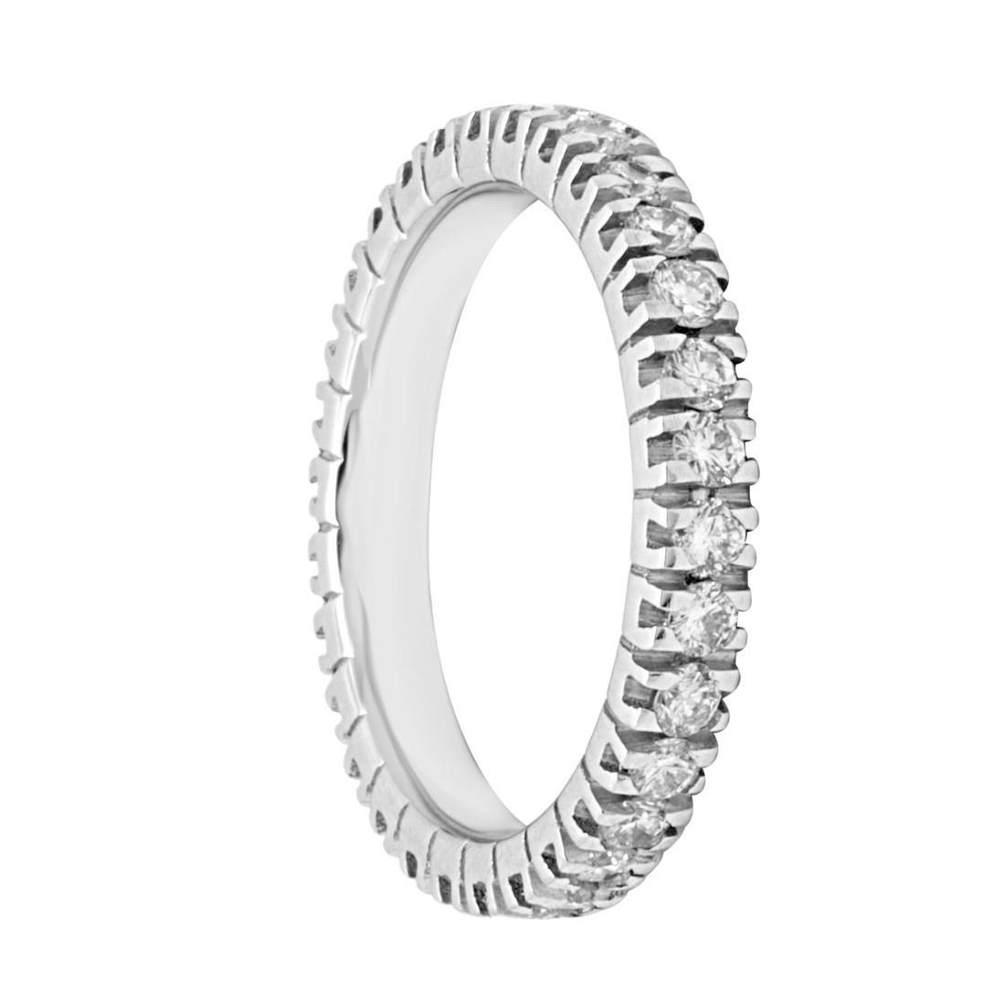Anello eternity in oro bianco con diamanti mis 11 - ORO&CO