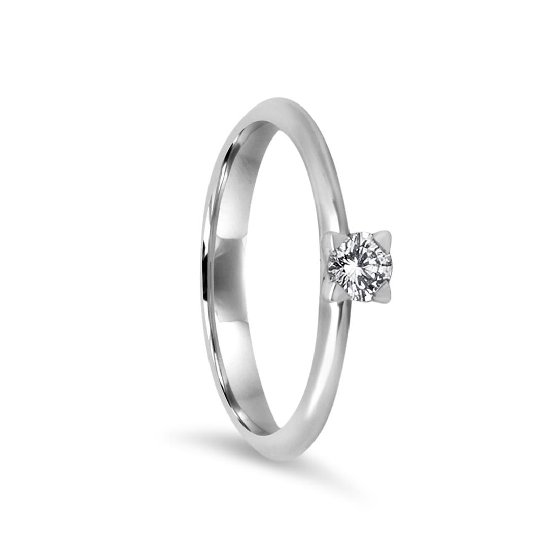Solitaire ring with diamond - ALFIERI & ST. JOHN