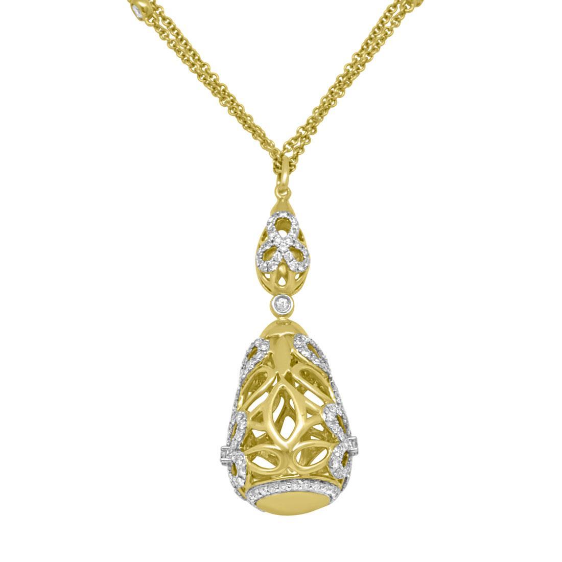 Collana in oro giallo con diamanti - ORO&CO