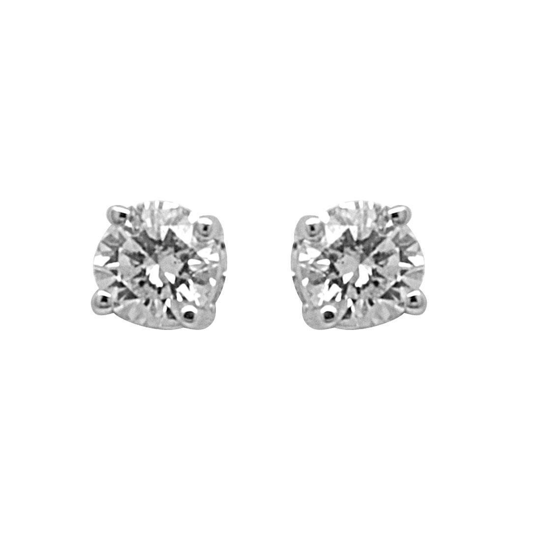 Orecchini punto luce in oro bianco con diamanti 0.30 ct - ALFIERI & ST.JOHN