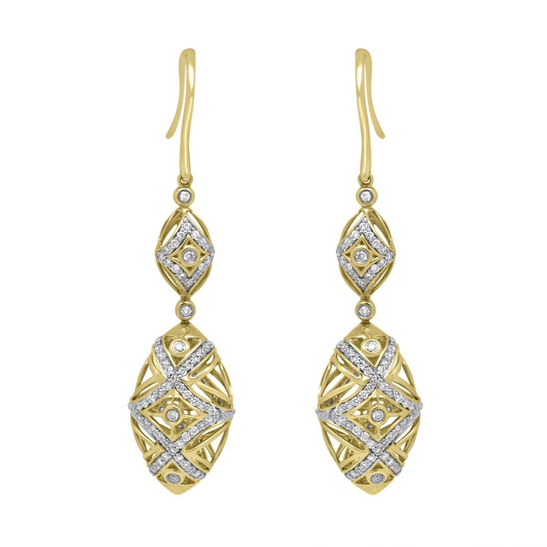 Orecchini in oro giallo con diamanti - ORO&CO