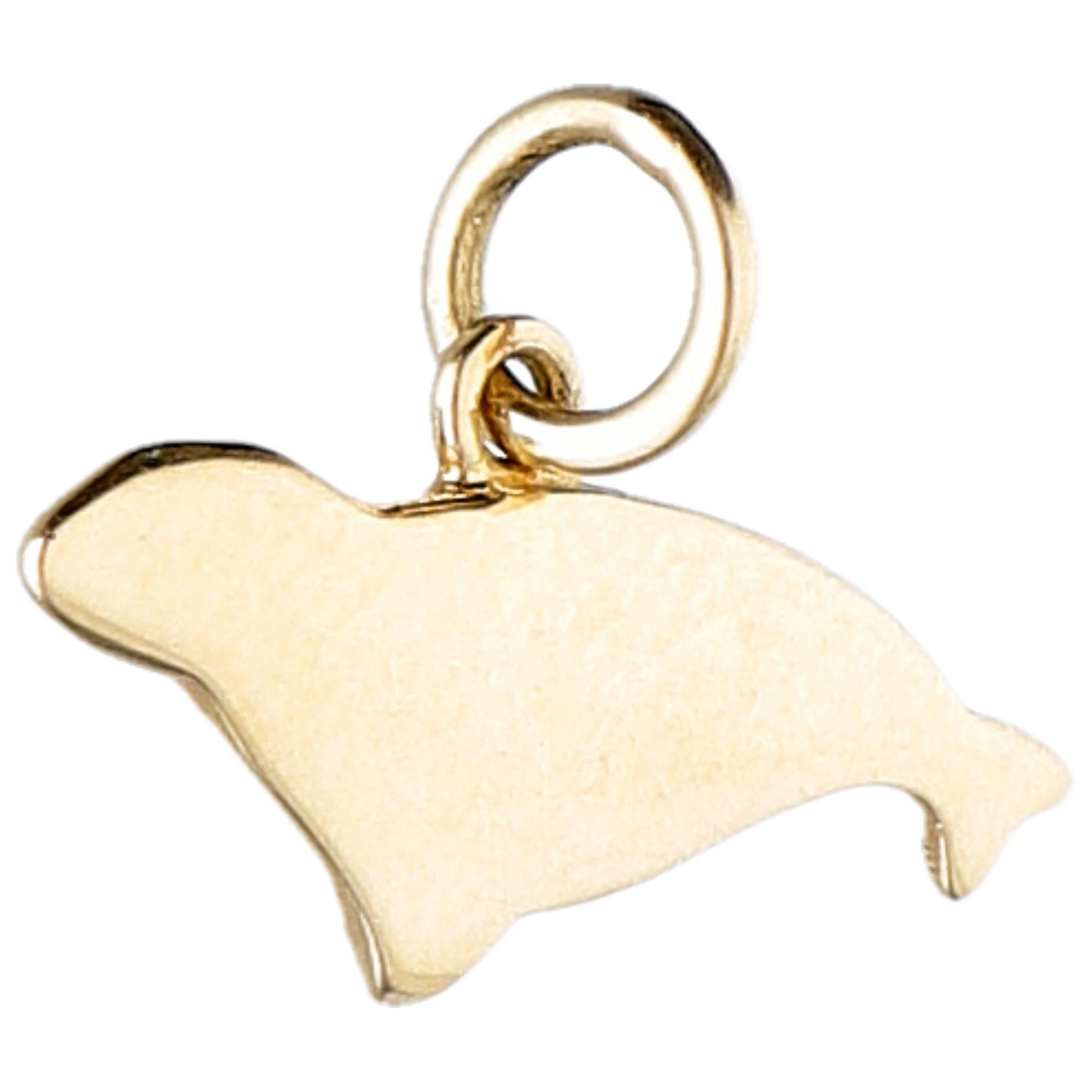 Ciondolo foca in oro giallo da 2 g - DODO