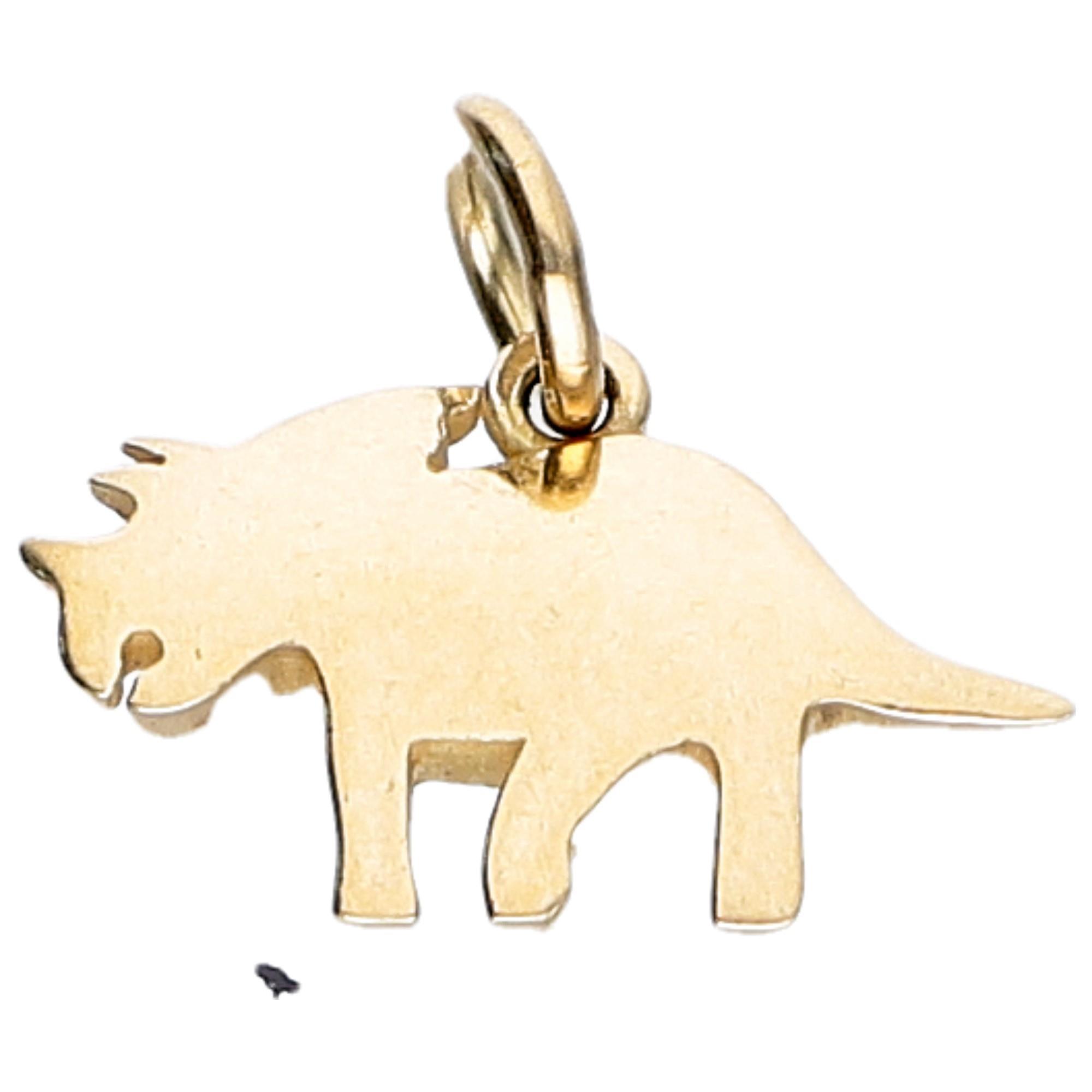 Ciondolo triceratopo in oro giallo da 2 g - DODO