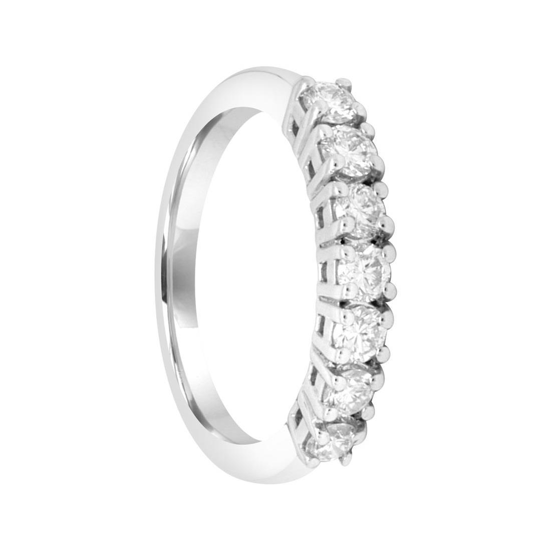 Anello riviere in oro bianco con diamanti mis 14.5 - ALFIERI ST JOHN