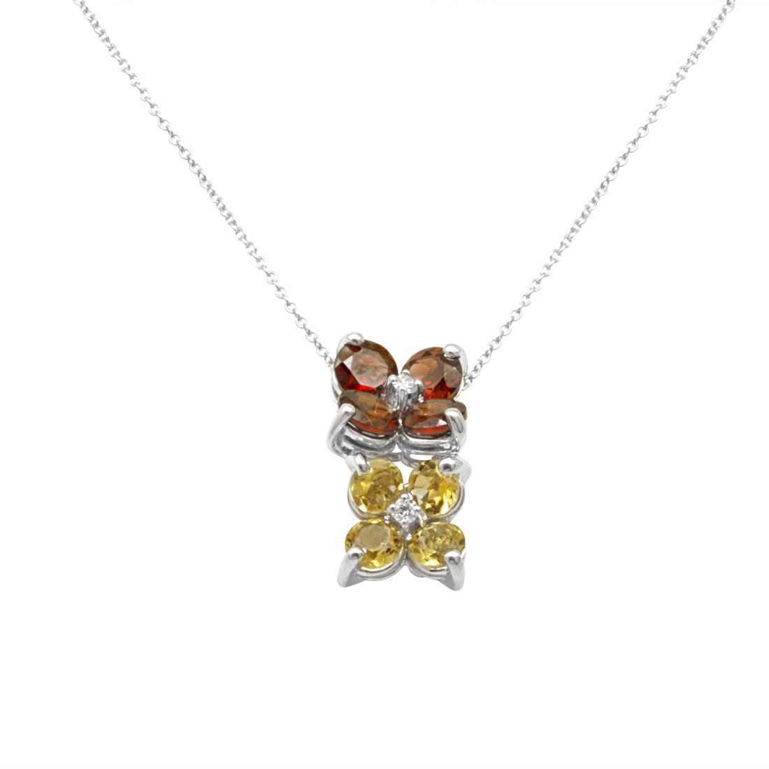 Collana in oro bianco con pietre preziose - ALFIERI ST JOHN