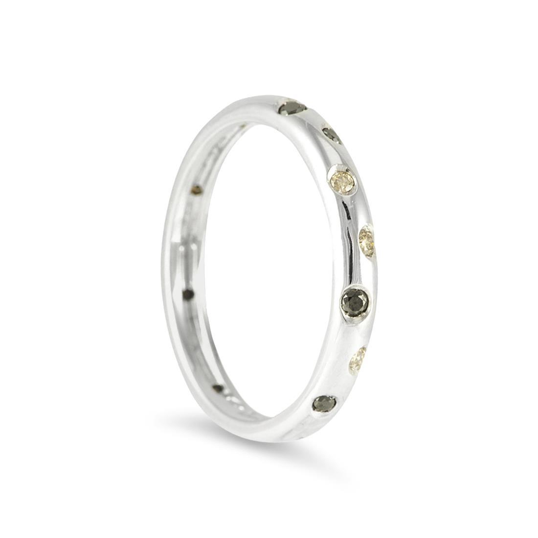 Ring with black and brown diamonds - ALFIERI & ST. JOHN