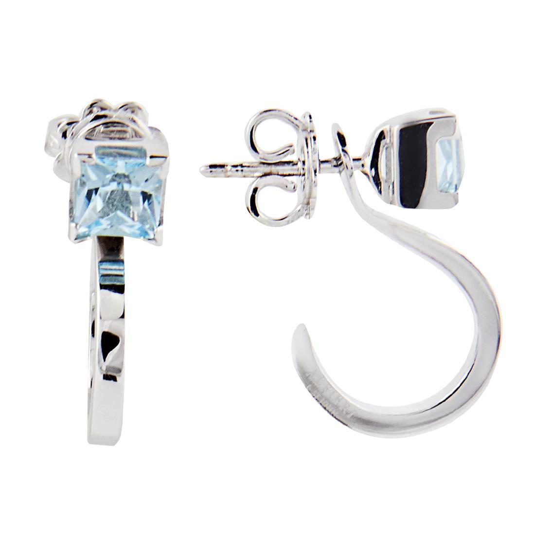 Orecchini con pietra semipreziosa azzura e diamanti ct 0.01 - ALFIERI ST JOHN