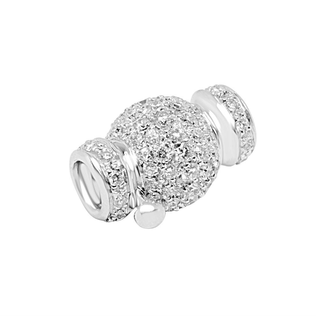 Fermaglio in oro bianco con diamanti - ALFIERI ST JOHN