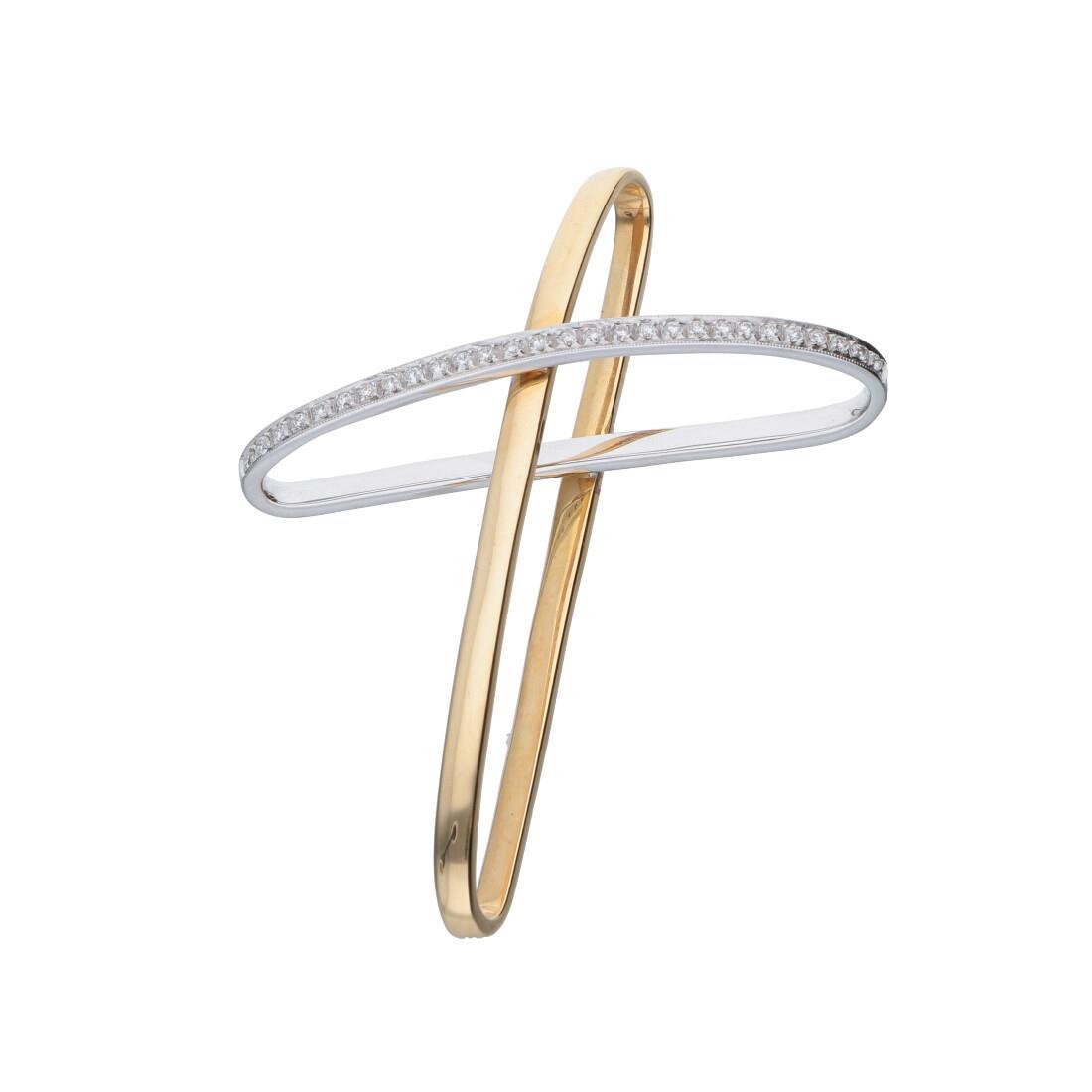 Ciondolo croce in oro giallo e bianco - ALFIERI & ST. JOHN