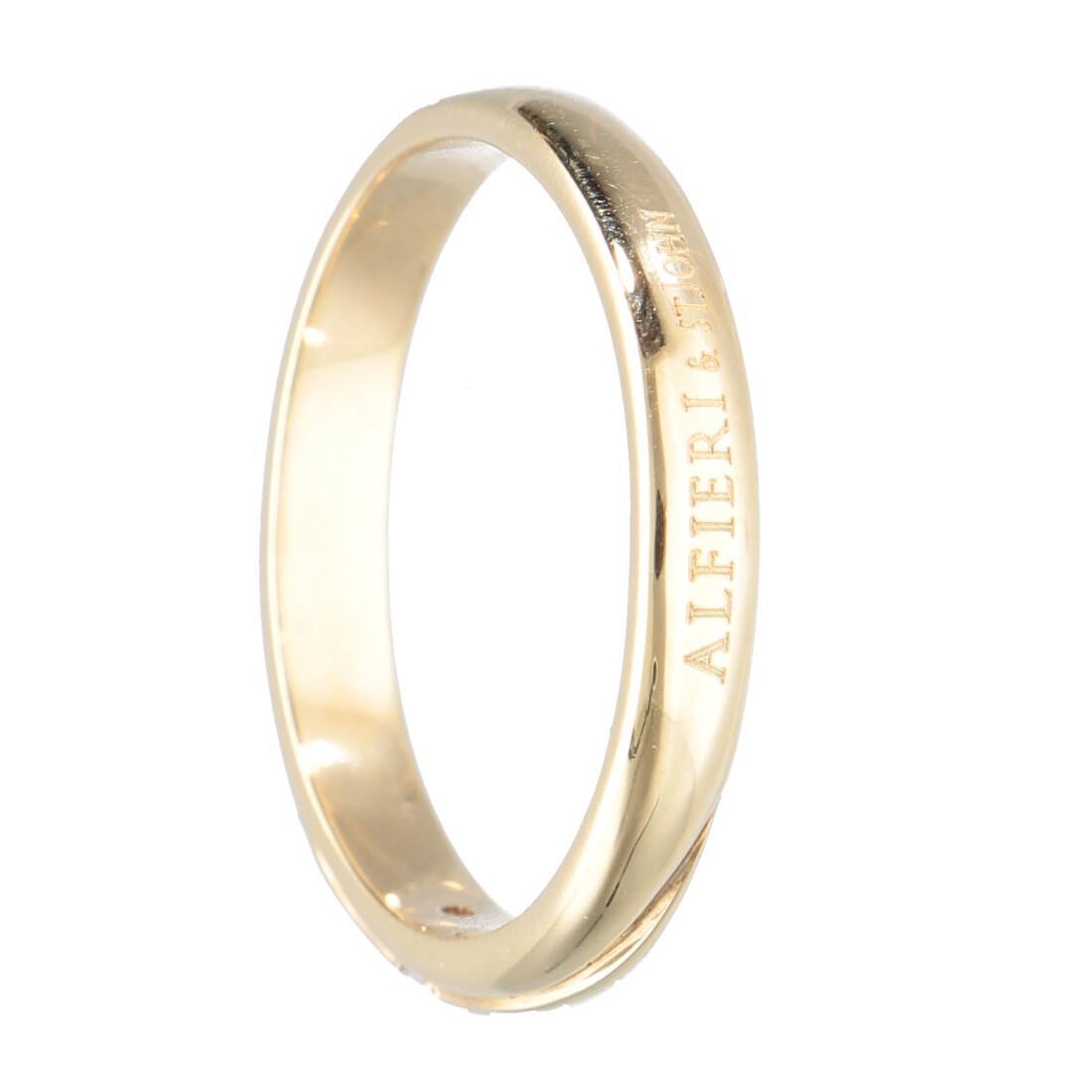 Fede in oro giallo con diamante mis 13 - ALFIERI & ST. JOHN