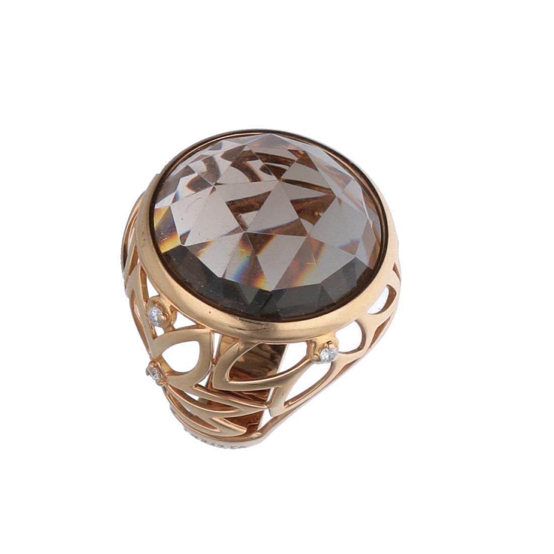 Anello quarzo fumè e diamanti - ALFIERI & ST. JOHN