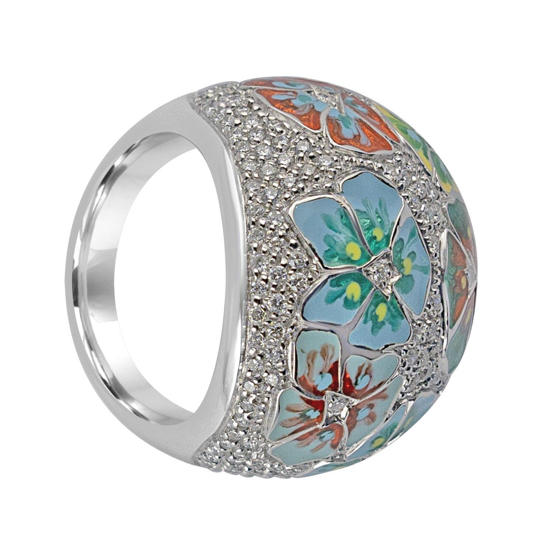 Anello in oro bianco con diamanti  - ALFIERI & ST. JOHN
