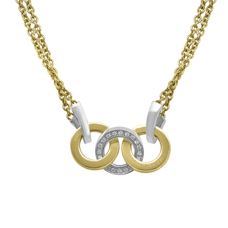 Collier in oro bianco e rosa con diamanti - ALFIERI & ST. JOHN