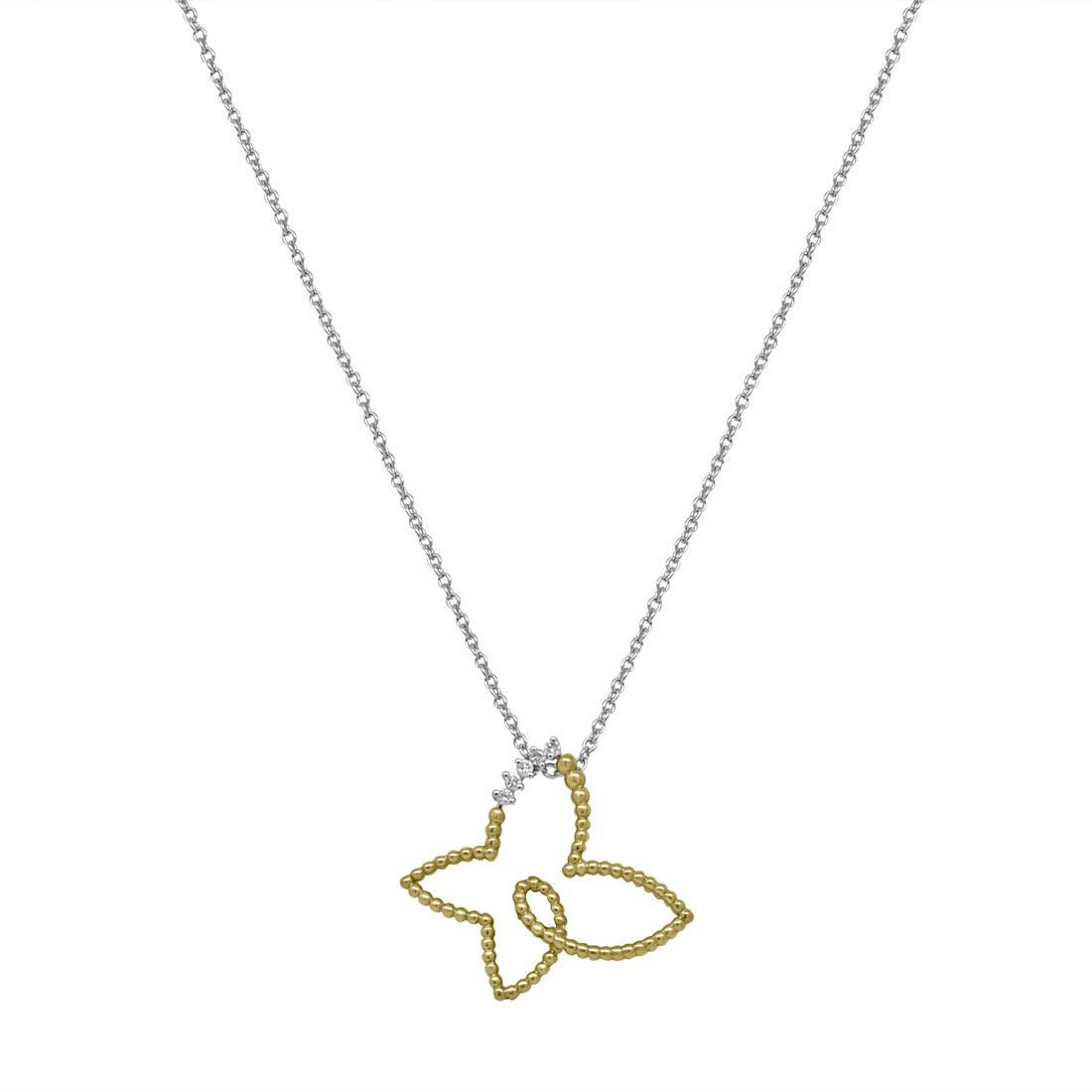 Collana in oro bianco con pendente farfalla - ALFIERI & ST. JOHN