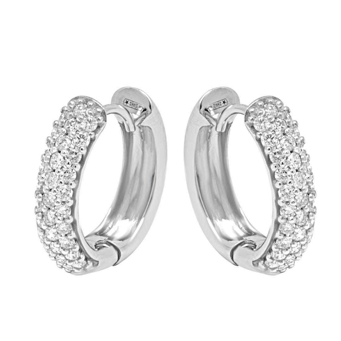 Orecchini in oro bianco con diamanti ct 0.75 - ALFIERI & ST.JOHN