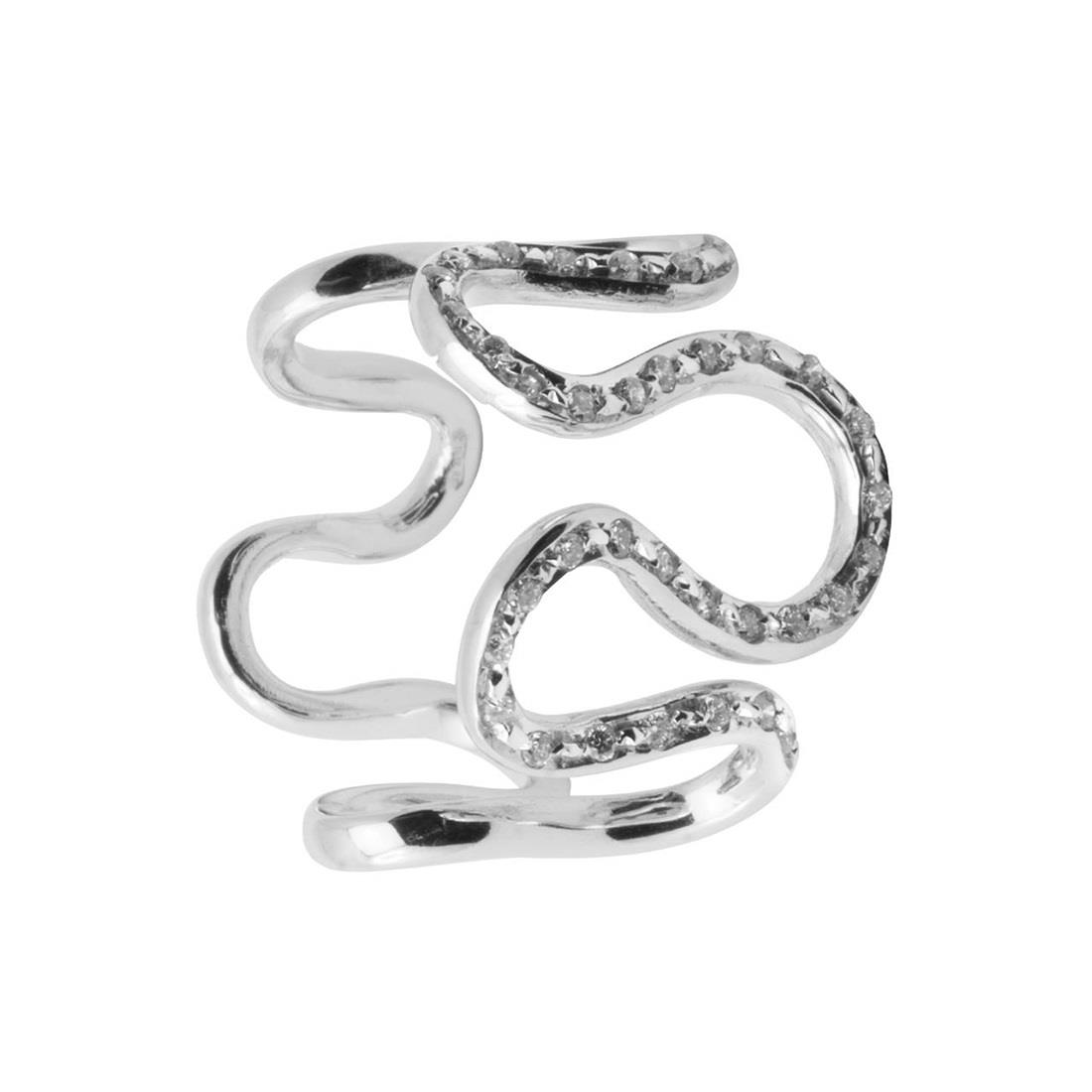 Anello in oro bianco con diamanti ct 0.28 - ORO&CO