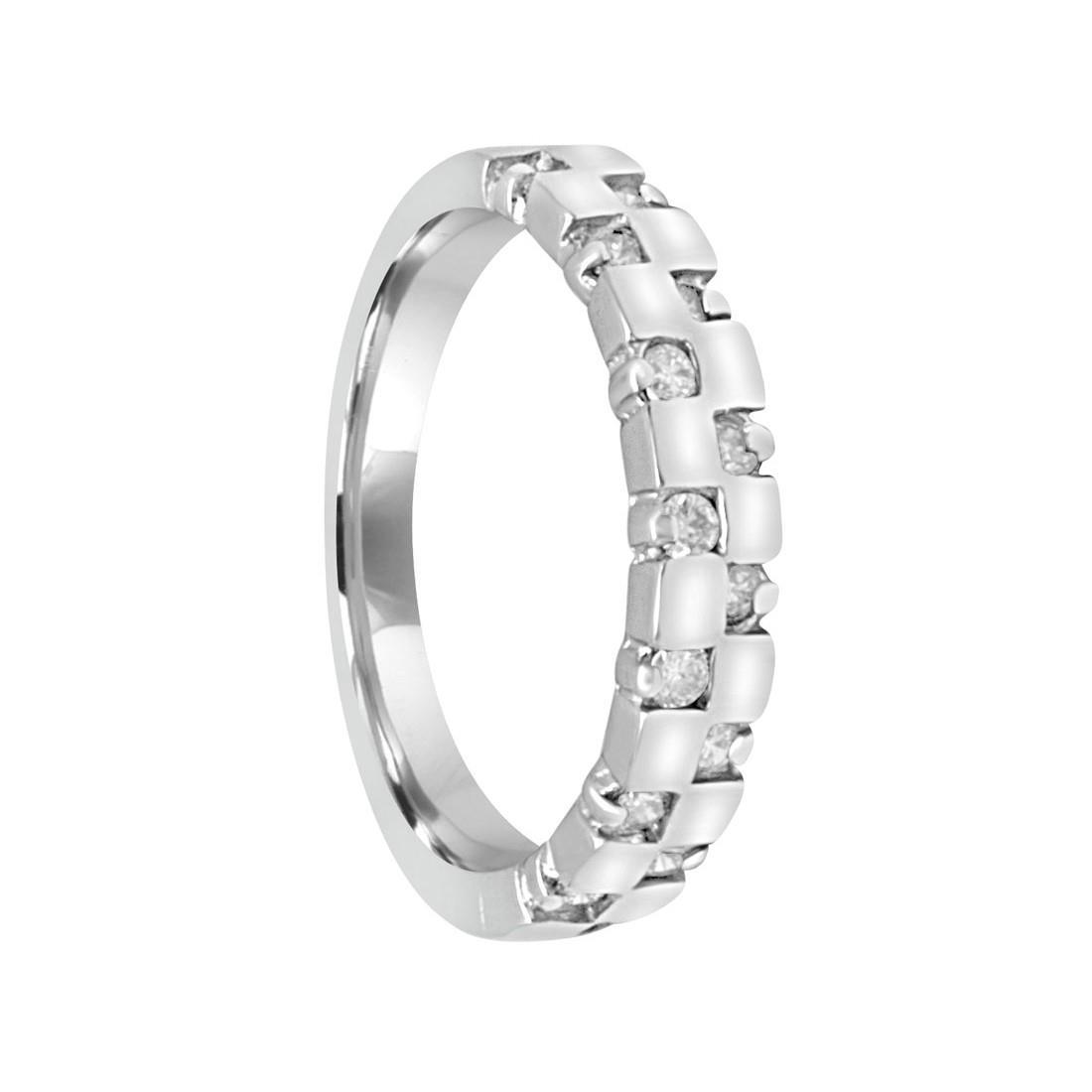 Anello in oro bianco con diamanti ct 0.28, misura 13 - ORO&CO
